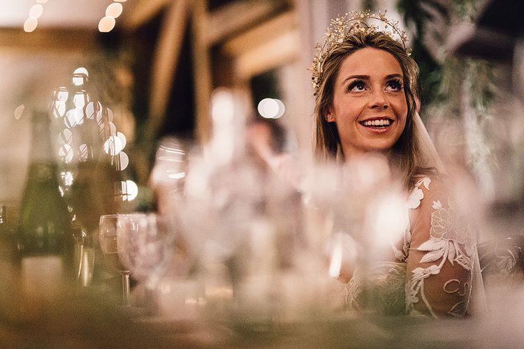 Bride In Gold Luna Bea Headpiece