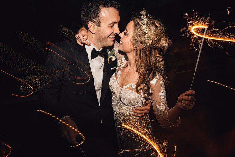 Sparkler Send Off At Wedding   Image by Samuel Docker Photography