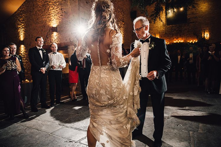 Father & Daughter Dance At Wedding