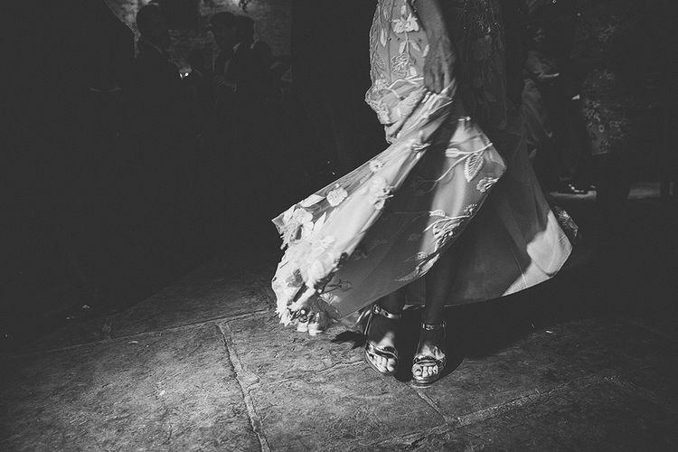 Bespoke Hermione De Paula Wedding Dress With Block Heels By Prada