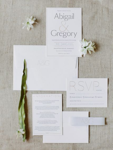 Traditional Letterpress Wedding Stationery Suite