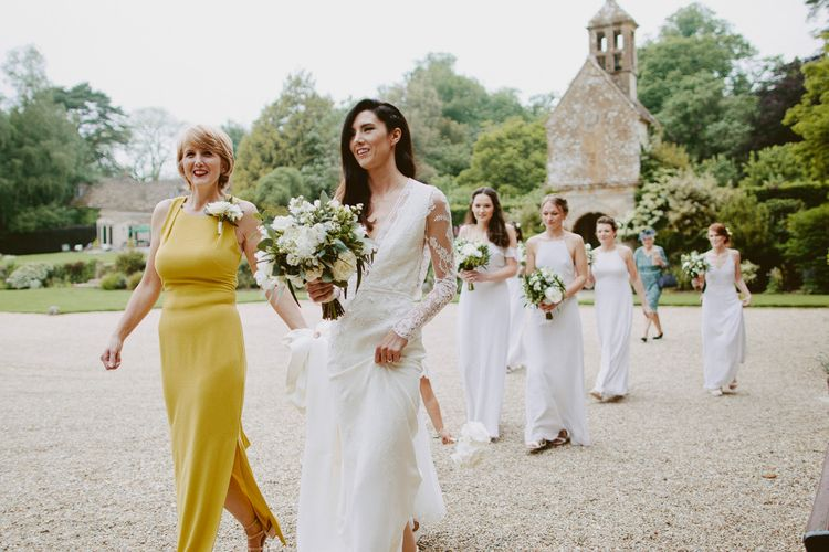 Elegant Wedding Party With Bride in Bespoke Wedding Dress