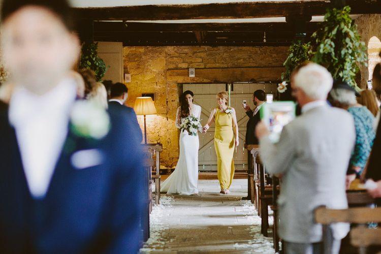 Mum Walking Bride Down The Aisle