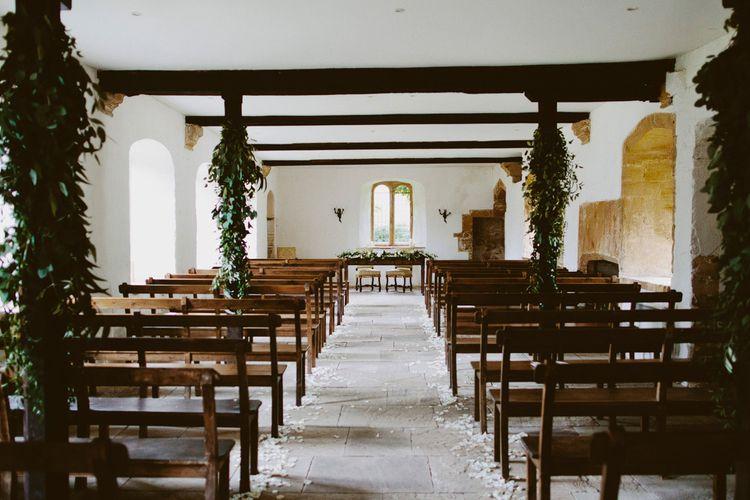 Petal Lined Wedding Aisle
