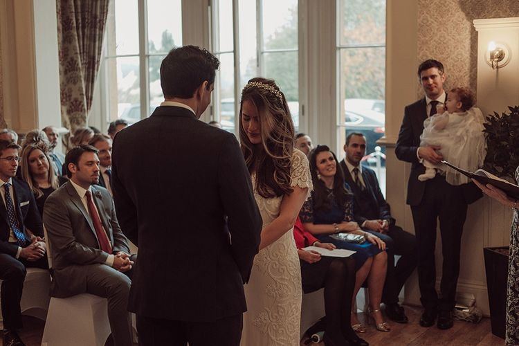 Elegant Winter Wedding At Limpley Stoke Hotel Bath With Bride In Pretty Something Blue Shoes And Images From Jason Mark Harris