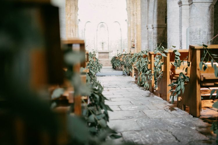 Greenery Filled Wedding Aisle