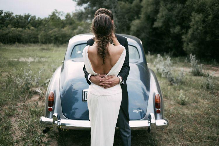 Backless Cortana Wedding Dress & Bridal Braid