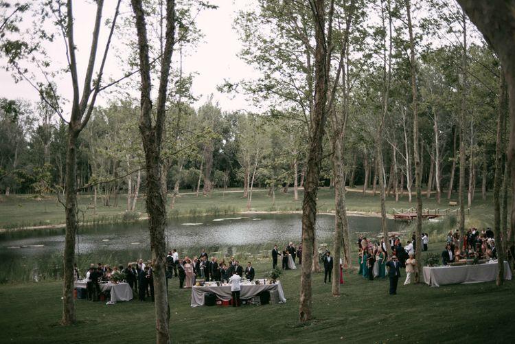 Lake Side Outdoor Wedding Reception