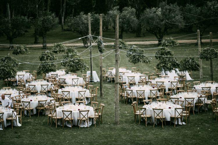 Outdoor Fine Dining Wedding Reception