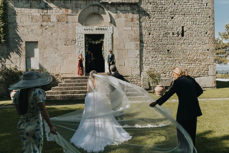 Bridal Entrance with Bride in Luisa Beccaria Wedding Dress