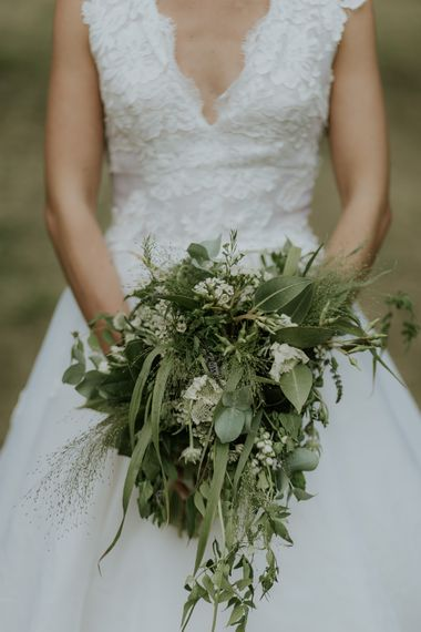 Greenery & Berry Wedding Bouquet
