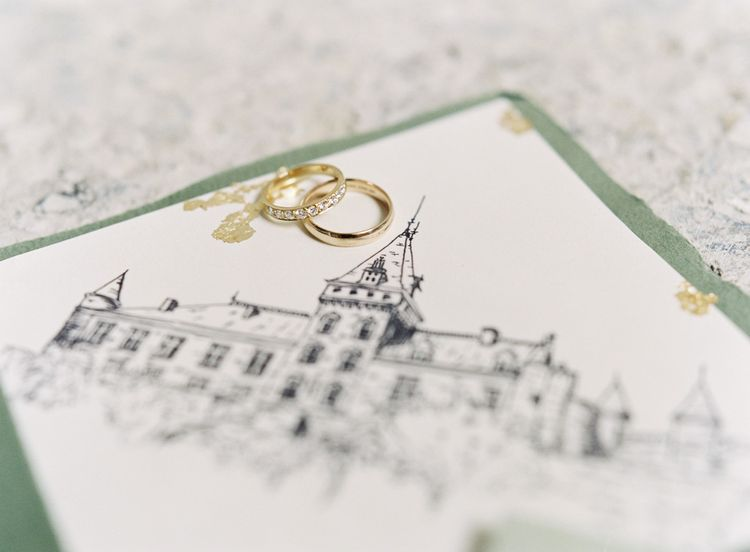 Wedding Bands | Wedding Stationery | Fairytale Castle Wedding at Chateau de Lisse in France | Lilli Kad Photography