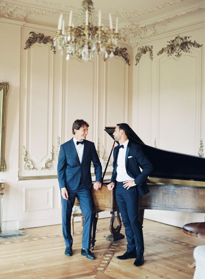 Groomsmen in Tuxedos | Fairytale Castle Wedding at Chateau de Lisse in France | Lilli Kad Photography