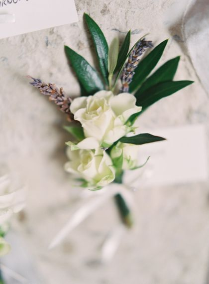 Buttonhole | Fairytale Castle Wedding at Chateau de Lisse in France | Lilli Kad Photography
