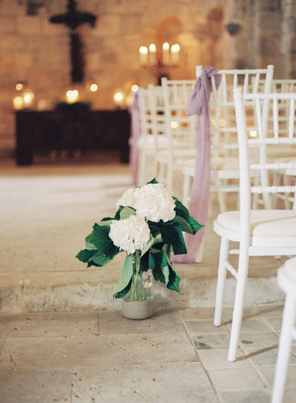 Aisle Flowers | Wedding Decor | Fairytale Castle Wedding at Chateau de Lisse in France | Lilli Kad Photography