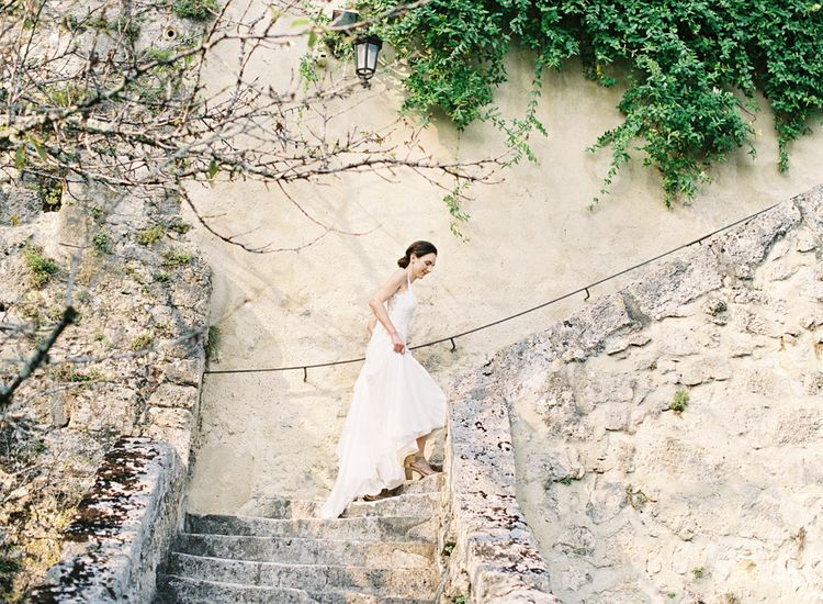 Bride in Pronovias Gown | Fairytale Castle Wedding at Chateau de Lisse in France | Lilli Kad Photography
