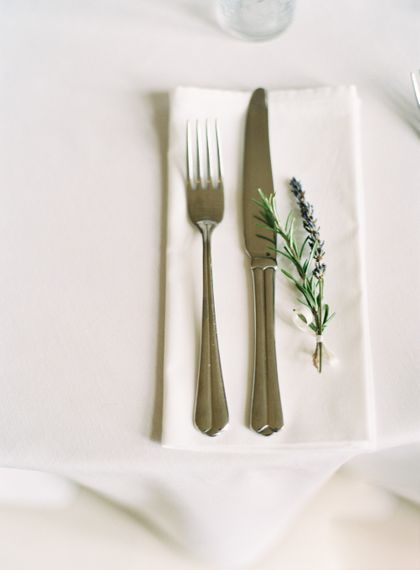 Dried Lavender Place Setting | Fairytale Castle Wedding at Chateau de Lisse in France | Lilli Kad Photography