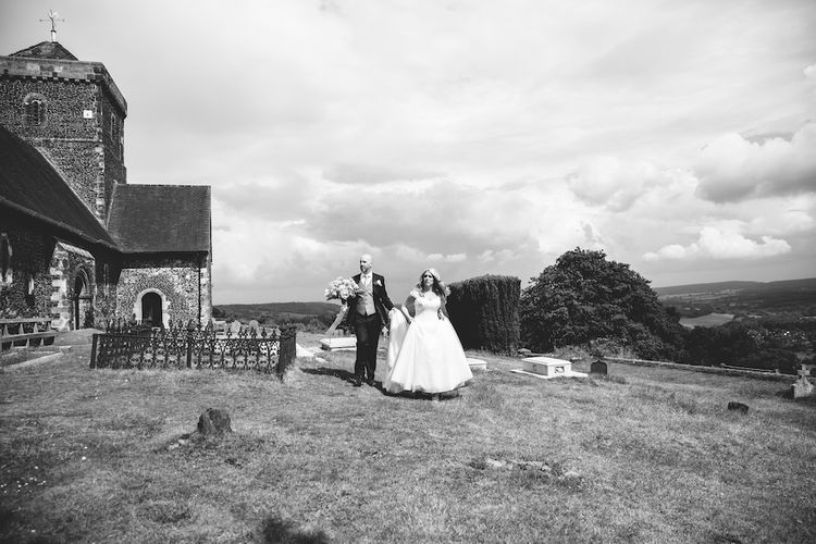 Bride in Suzanne Neville Dress & Groom in Traditional Tales