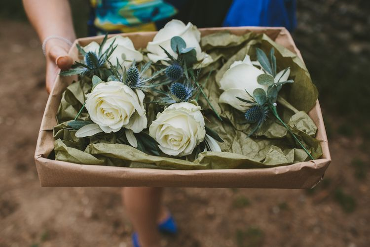 White Rose & Thistle Buttonholes