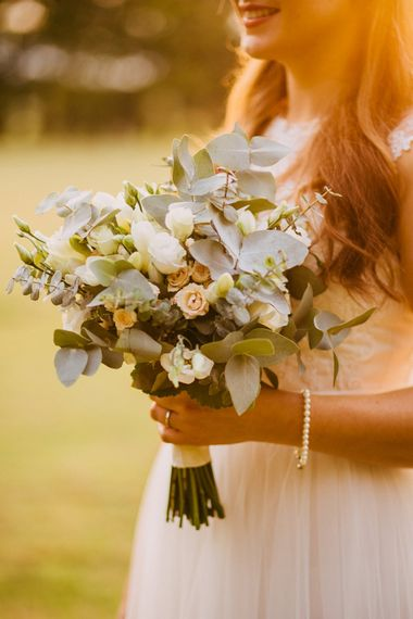 Greenery Filled Wedding Bouquet