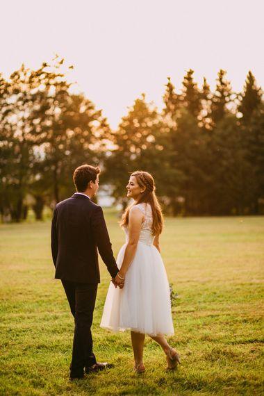 Bride In Tea Length Dress By ASOS Bridal