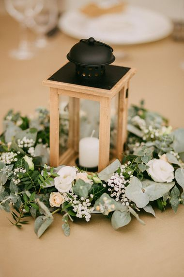 Table Centrepieces For Weddings Lanterns With Foliage