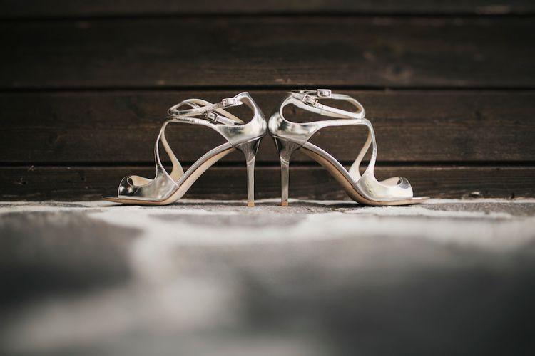 Metallic Jimmy Choo Wedding Shoes