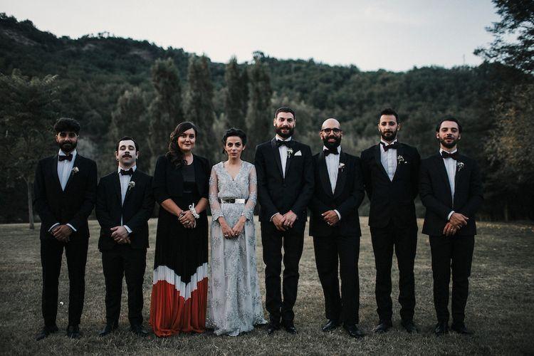 Stylish Wedding Party in Black