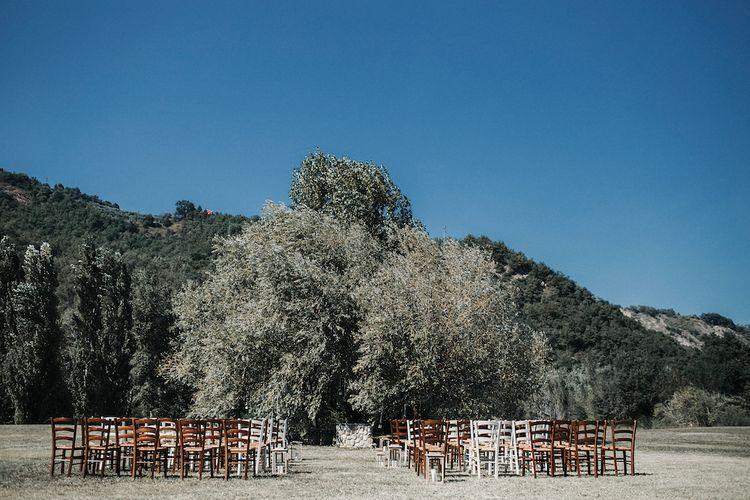 Outdoor Wedding Ceremony In Abruzzo Italy