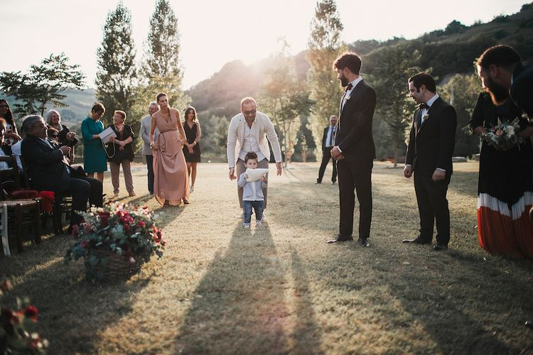 Adorable Page Boy Outfit For Destination Wedding