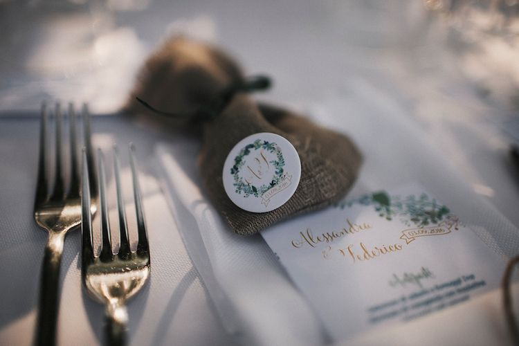 Rustic Place Setting & Favours