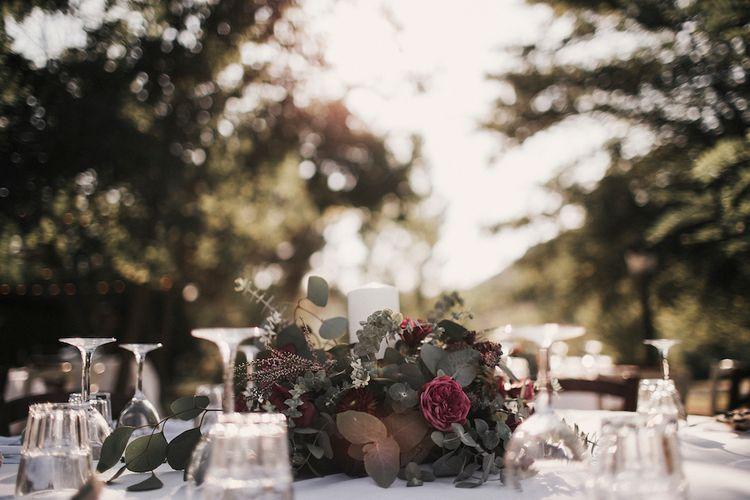 Floral Arrangement For Rustic Outdoor Wedding
