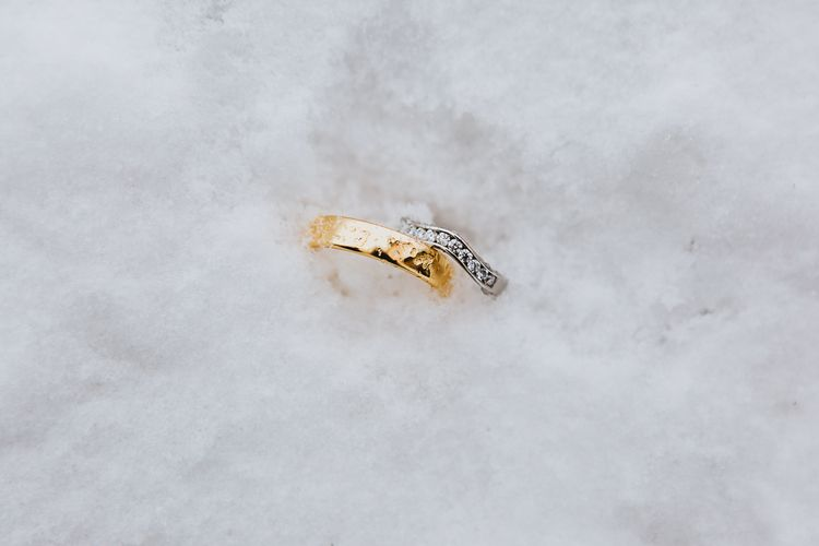 Wedding Bands in the Snow