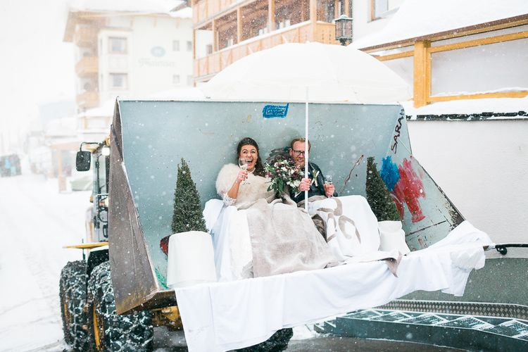 Snow Plough Wedding Transport