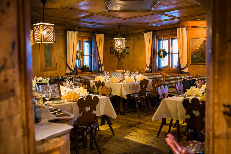 Ski Lodge Wedding Reception