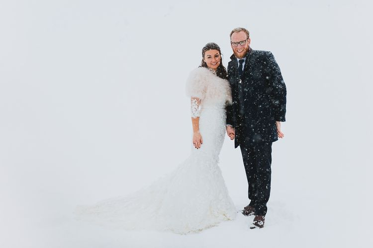 Bride & Groom in the Snow