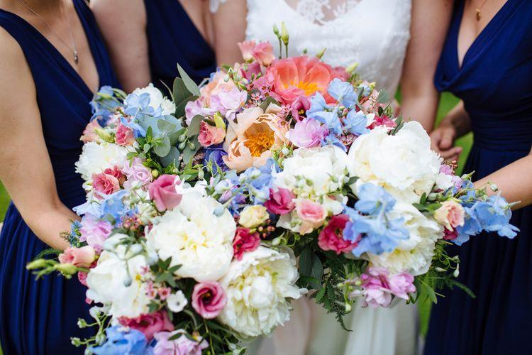 Bright Wedding Bouquets   Laura Debourde Photography