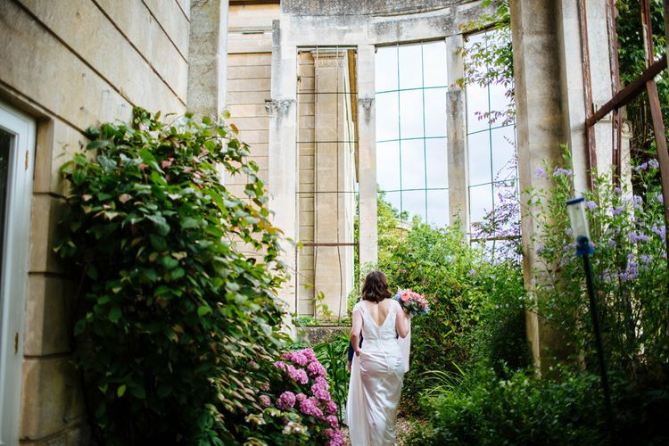 Bride in Belle and Bunny Bridal Separates   Groom in John Lewis Kin Navy Blue Suit   Whitbourne Hall Wedding   Laura Debourde Photography
