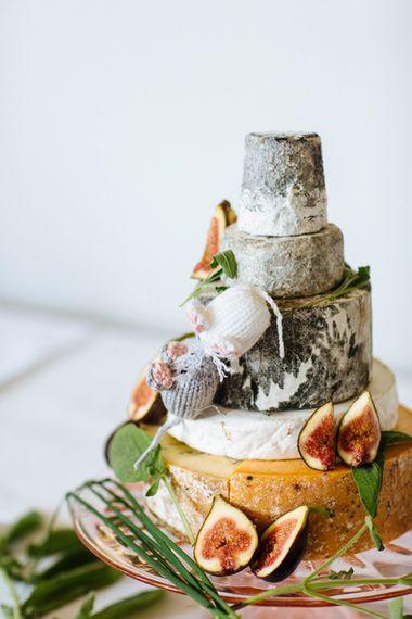 Cheese Tower Wedding Cake   Wedding Decor   Whitbourne Hall Wedding Venue   Laura Debourde Photography