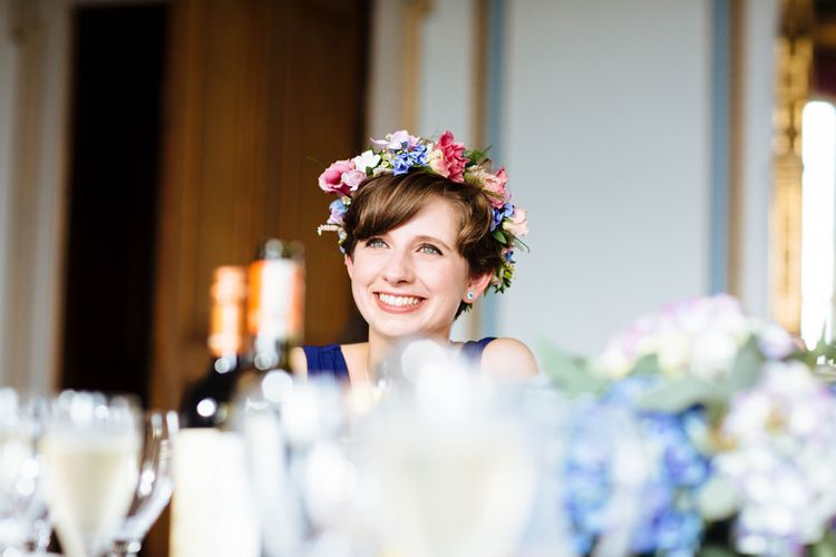 Brightly Coloured Flower Crown   Laura Debourde Photography