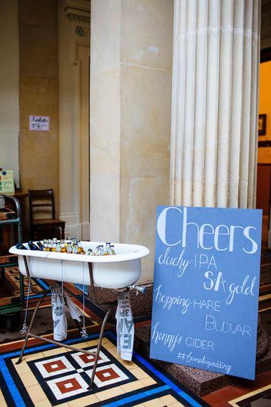 Booze Bath from Another Story Studio   Wedding Decor   Whitbourne Hall Wedding Venue   Laura Debourde Photography