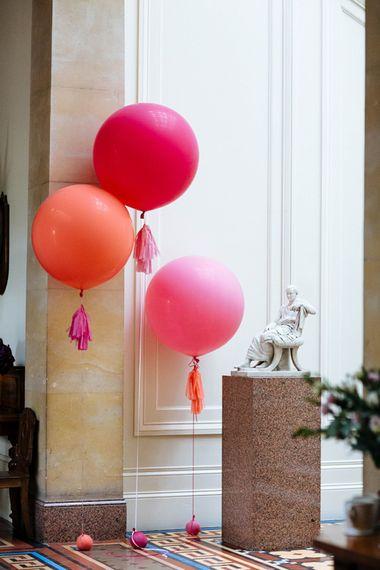 Giant Balloons   Wedding Decor   Whitbourne Hall Wedding Venue   Laura Debourde Photography