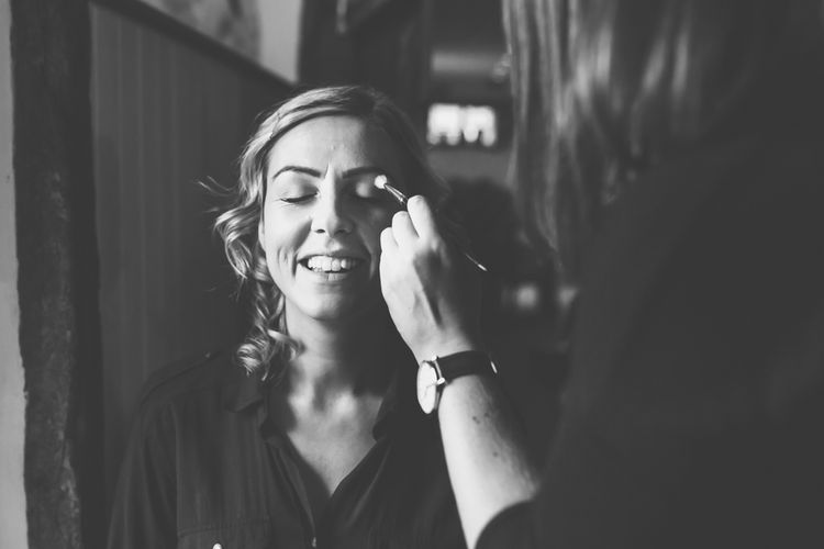 Beautiful Bride Getting Ready For Wedding Day