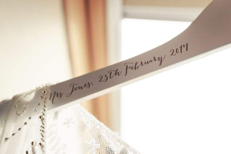 Personalised Hanger For Wedding Dress