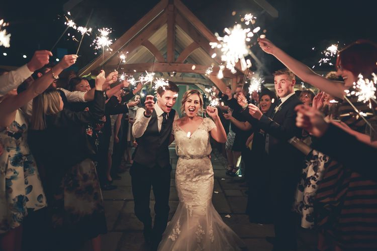 Sparkler Send Off For Bride & Groom