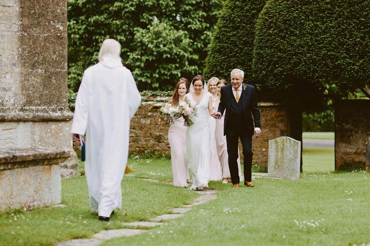 Bridal Entrance | Bride in Rose & Delilah Gown | David Jenkins Photography | Confetti & Silk Films