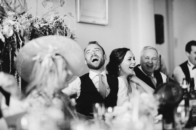 Speeches | An Elegant Summer Wedding at North Cadbury Court in Somerset | David Jenkins Photography | Confetti & Silk Films