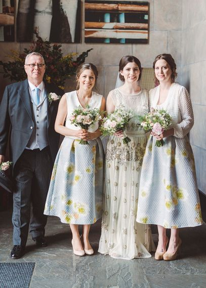 Bride in Vintage Inspired Vicky Rowe Wedding Dress | Bridesmaid Separates | Razia N Jukes Photography