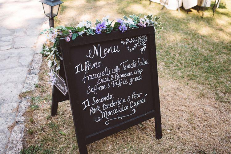 Chalkboard Wedding Sign