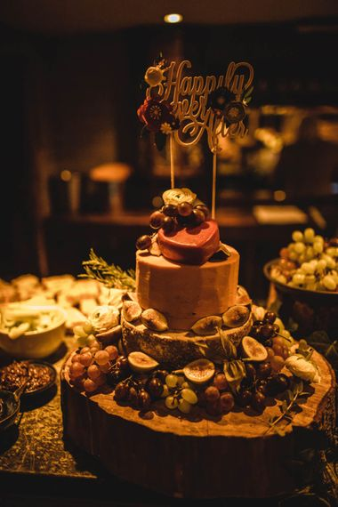 Cheese Tower For Pub Wedding At The White Horse Chichester With Bride In Limor Rosen And Groom In Ted Baker With Images From Victoria Popova Photography